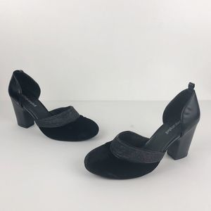 Jeffrey Campbell Adrina Black Velvet Leather Heels